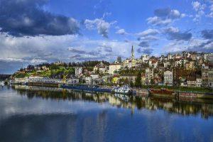 Belgrade Old town and river Danube
